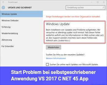 Start Problem bei selbstgeschriebener Anwendung (VS 2017 C# .NET 4.5 App)