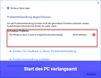 Start des PC verlangsamt