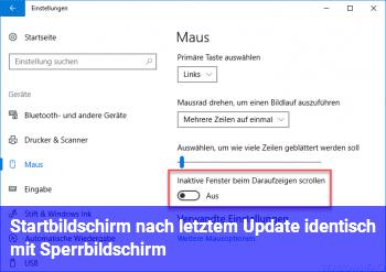 Startbildschirm nach letztem Update identisch mit Sperrbildschirm