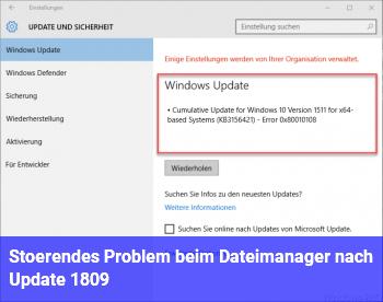 Störendes Problem beim Dateimanager (nach Update 1809)