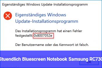 Stündlich Bluescreen, Notebook Samsung RC730