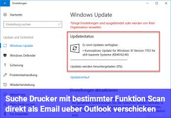 Suche Drucker mit bestimmter Funktion (Scan direkt als Email über Outlook verschicken)