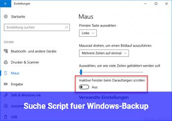 Suche Script für Windows-Backup