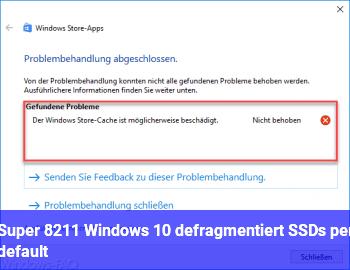Super – Windows 10 defragmentiert SSDs per default !
