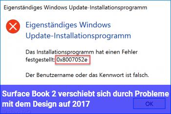 Surface Book 2 verschiebt sich durch Probleme mit dem Design auf 2017?