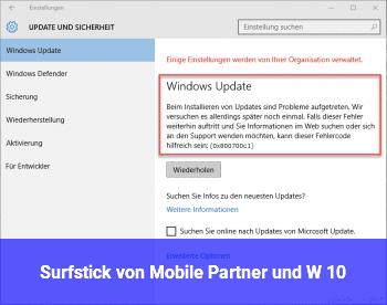 Surfstick von Mobile Partner und W 10