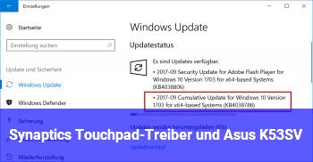 Synaptics Touchpad-Treiber und Asus K53SV