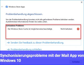 Synchonisierungsprobleme mit der Mail App von Windows 10