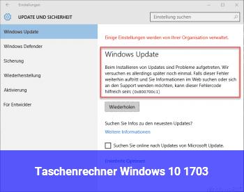 Taschenrechner Windows 10 1703