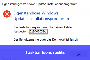 Taskbar Icons rechts