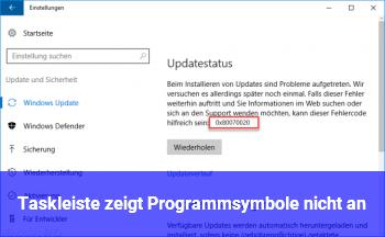 Taskleiste zeigt Programmsymbole nicht an