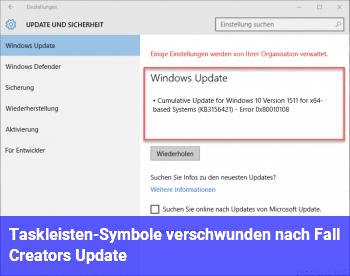 Taskleisten-Symbole verschwunden nach Fall Creators Update