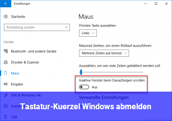 Tastatur-Kürzel Windows abmelden?