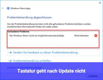 Tastatur geht nach Update nicht
