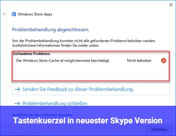 Tastenkürzel in neuester Skype Version