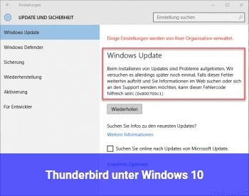 Thunderbird unter Windows 10