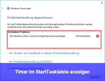 Timer im Start/Taskleiste anzeigen