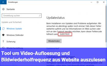 Tool um Video-Auflösung und Bildwiederholfrequenz aus Website auszulesen