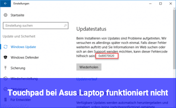 Touchpad bei Asus Laptop funktioniert nicht