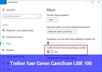 Treiber für Canon CanoScan LiDE 100