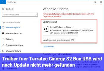 Treiber für Terratec Cinergy S2 Box USB wird nach Update nicht mehr gefunden