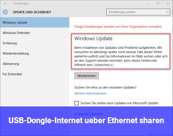 USB-Dongle-Internet über Ethernet sharen