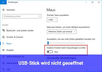 USB-Stick wird nicht geöffnet