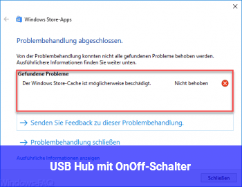 USB Hub mit On/Off-Schalter