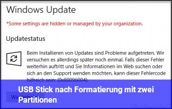 USB Stick nach Formatierung mit zwei Partitionen?