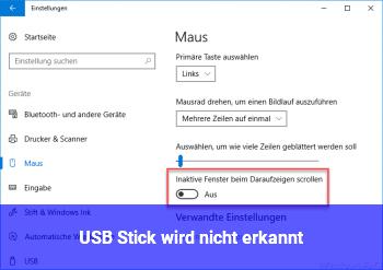 USB Stick wird nicht erkannt!