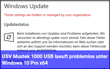USV Mustek 1000 USB läuft problemlos unter Windows 10 Pro x64