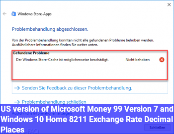 US version of Microsoft Money 99 Version 7 and Windows 10 Home – Exchange Rate Decimal Places