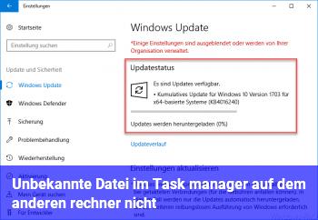 Unbekannte Datei im Task manager (auf dem anderen rechner nicht)
