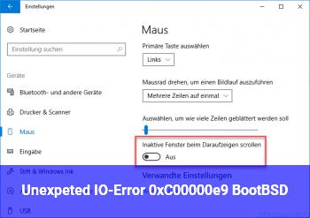 Unexpeted I/O-Error 0xC00000e9 (\Boot\BSD)