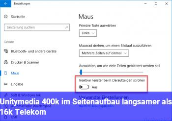 Unitymedia 400k im Seitenaufbau langsamer als 16k Telekom
