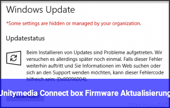 Unitymedia Connect box Firmware Aktualisierung