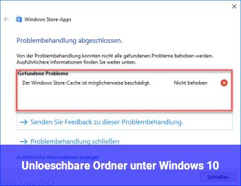 Unlöschbare Ordner unter Windows 10