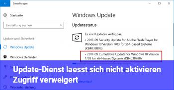 """Update-Dienst lässt sich nicht aktivieren """"Zugriff verweigert"""""""