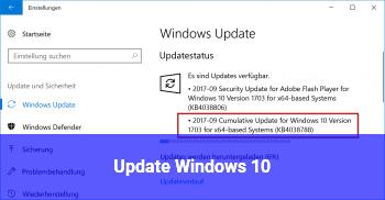Update Windows 10.