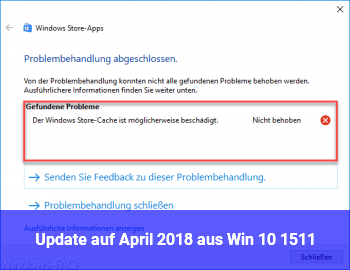 Update auf April 2018 aus Win 10 1511