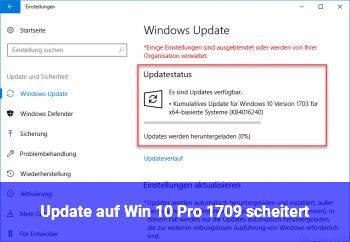 Update auf Win 10 Pro 1709 scheitert