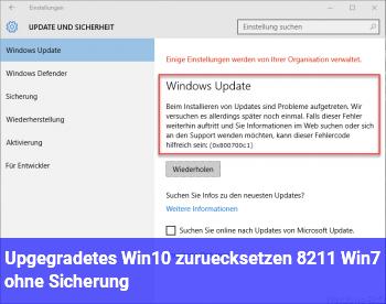 Upgegradetes Win10 zurücksetzen – Win7 ohne Sicherung?