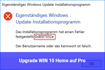 Upgrade WIN 10 Home auf Pro