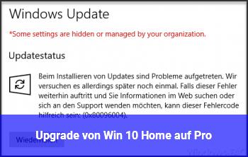 Upgrade von Win 10 Home auf Pro