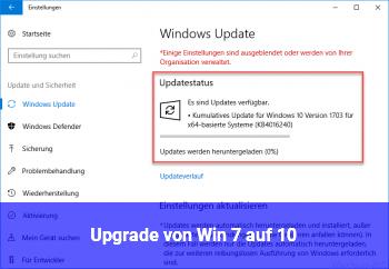 Upgrade von Win 7 auf 10