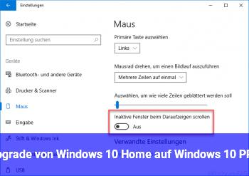 Upgrade von Windows 10 Home auf Windows 10 PRO