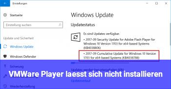 VMWare Player läßt sich nicht installieren