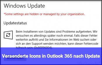 Veränderte Icons in Outlook 365 nach Update