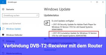 Verbindung DVB-T2-Receiver mit dem Router