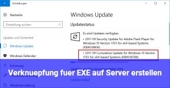 Verknüpfung für EXE auf Server erstellen